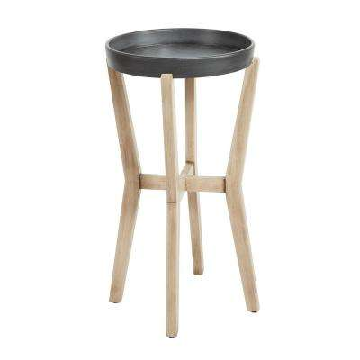 Alex Tall Natural and Gunmetal Accent Table