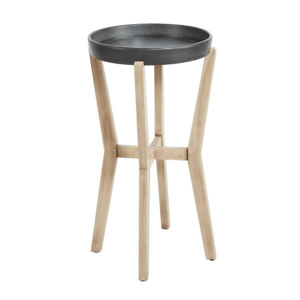 Silverwood Furniture Reimagined Alex Tall Natural and Gunmetal Accent Table
