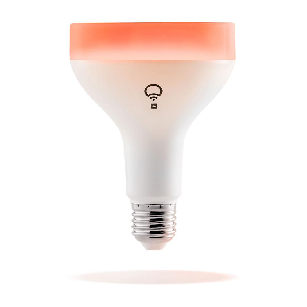 LIFX LIFX+Infrared 75-Watt Equivalent BR30 Multi-Color Dimmable Wi-Fi Smart Connected LED Light Bulb