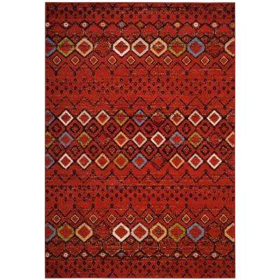 Amsterdam Terracotta Multi 7 Ft X 9 Area Rug