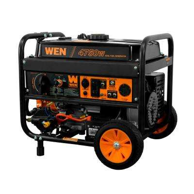 4,750/3,800-Watt 120-Volt/240-Volt Dual Fuel Gasoline and Propane Powered Electric Start Portable Generator w/Wheel Kit