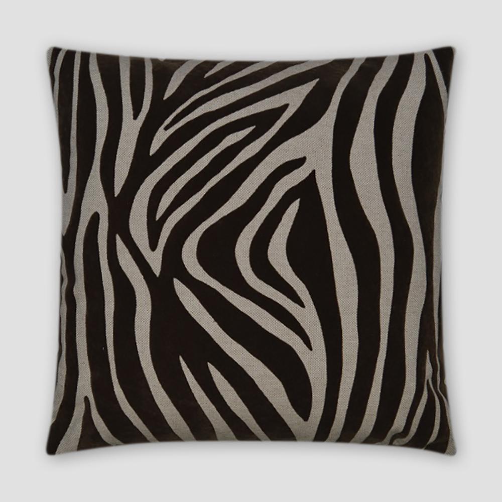 Kingdom Mocha Feather Down 18 in. x 18 in. Standard Decorative Throw Pillow