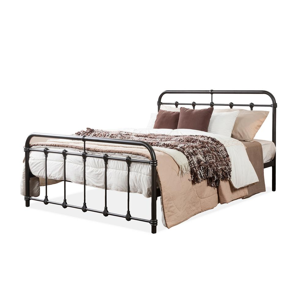 2d4ccf14e597 Baxton Studio Mandy Vintage Industrial Black Finished Metal Queen Size Bed