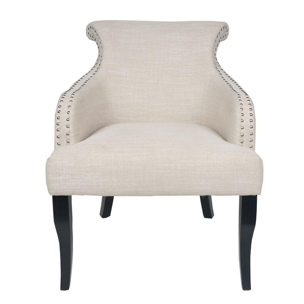 Filmore Light Beige Fabric Arm Chair