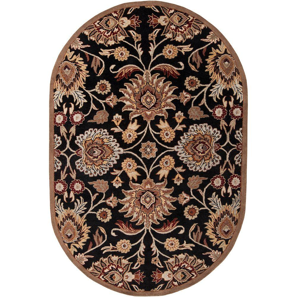Artes Maroon 8 ft. x 10 ft. Oval Area Rug