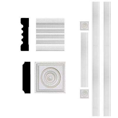 3/4 in. x 3 in. x 8 ft. MDF Fluted Door Casing Set