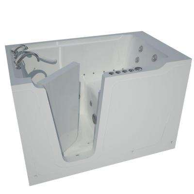 5 ft. Left Drain Walk-In Whirlpool and Air Bath Tub in White