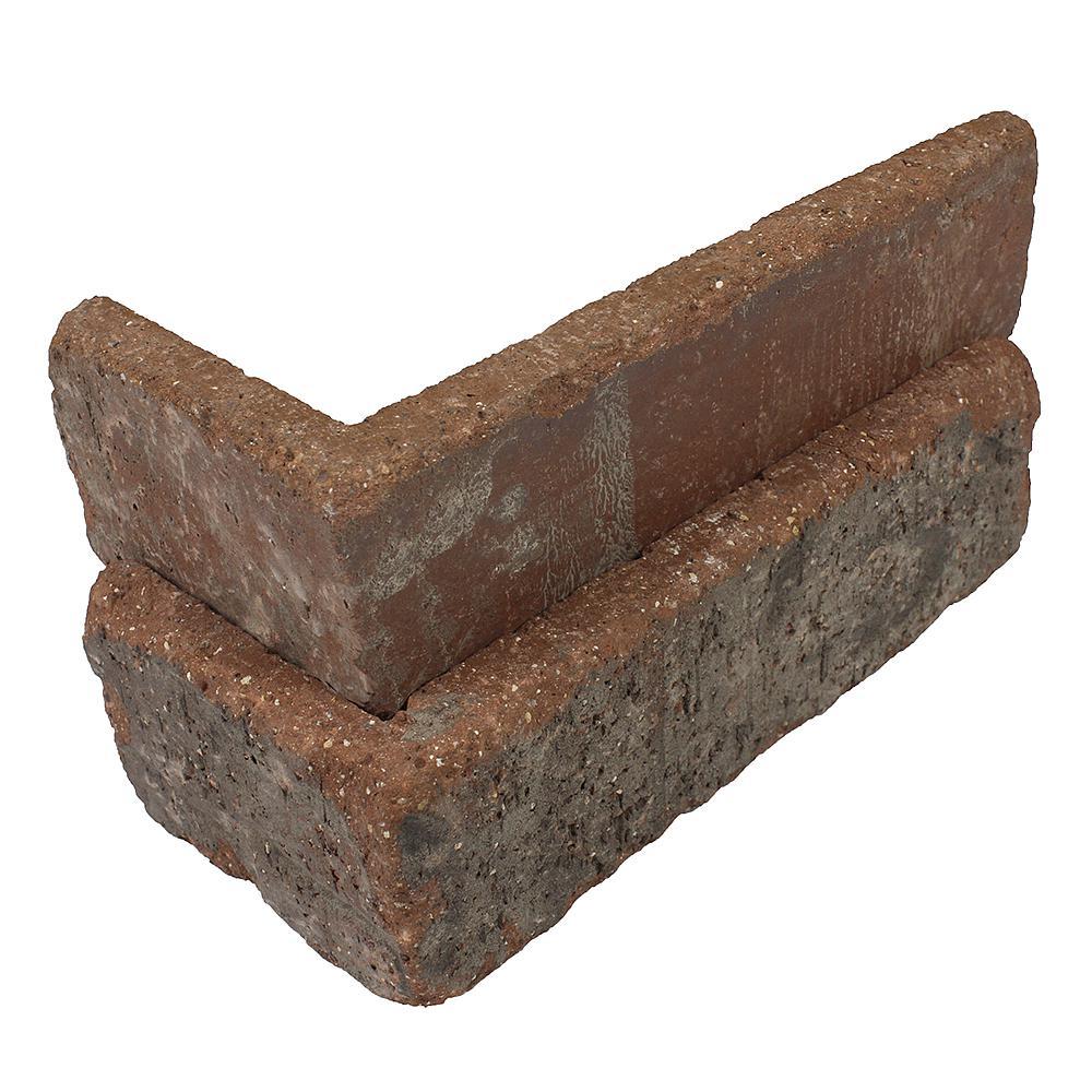 Castle Gate Thin Brick Singles - Corners (Box of 25) - 7.625 in. x 2.25 in. (5.5 lin. ft.)