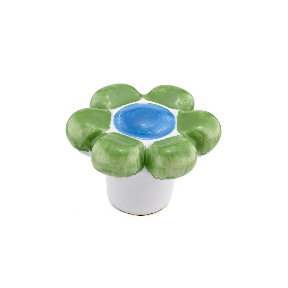 Richelieu Hardware Country 1 37/64 In. Pastel Green Cabinet Knob