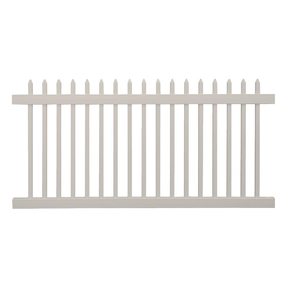 Weatherables Abbington 4 Ft H X 8 Ft W Tan Vinyl Picket