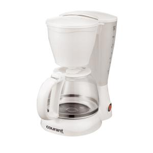Courant 8-Cup Anti-Drip Coffee Maker with Permanent Filter and Spoon in White by Courant