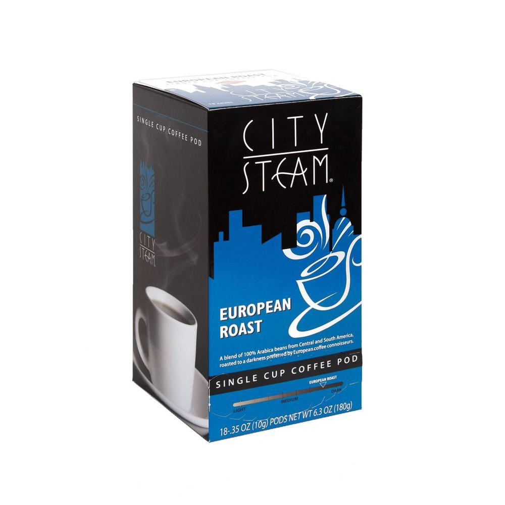 City Steam European Roast Single Cup Coffee Pods, 18-count-DISCONTINUED
