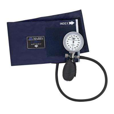 Signature Palm Aneroid Sphygmomanometers with Blue Nylon Cuff for Adult