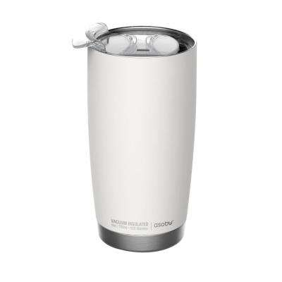 64 oz. White and Silver Gladiator Water Bottle