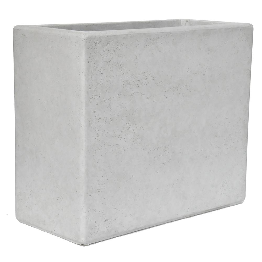 20 in. H x 24 in. x 11 in. Composite White Wash Deck Box in a Smooth Cement Finish