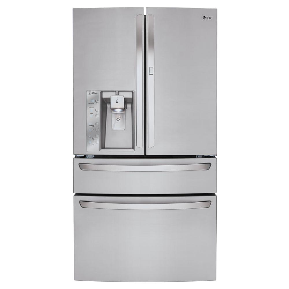 LGElectronics LG Electronics 29.7 cu. ft. French Door Refrigerator with Door-in-Door and CustomChill Drawer in Stainless Steel, Silver