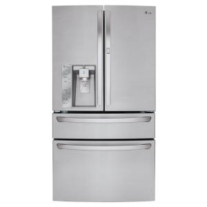 LG Electronics 29.7 cu. ft. French Door Refrigerator with Door-in-Door and CustomChill Drawer in Stainless Steel by LG Electronics