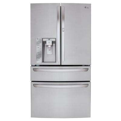 29.7 cu. ft. French Door Refrigerator with Door-in-Door and CustomChill Drawer in Stainless Steel
