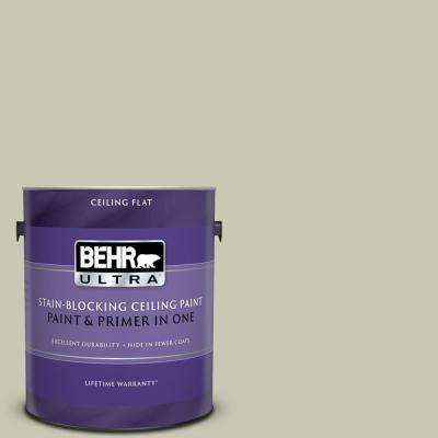 1 gal. #PPU10-10 Ocean Foam Ceiling Flat Interior Paint and Primer in One