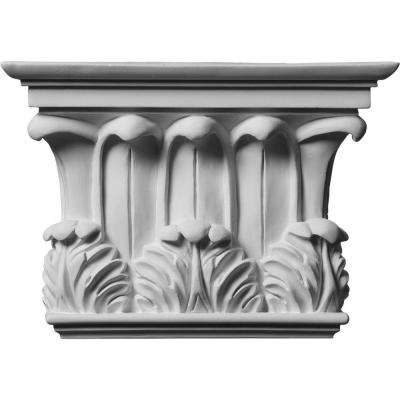 2-3/4 in. x 10-3/4 in. x 7-5/8 in. Primed Polyurethane Temple of Winds Capital