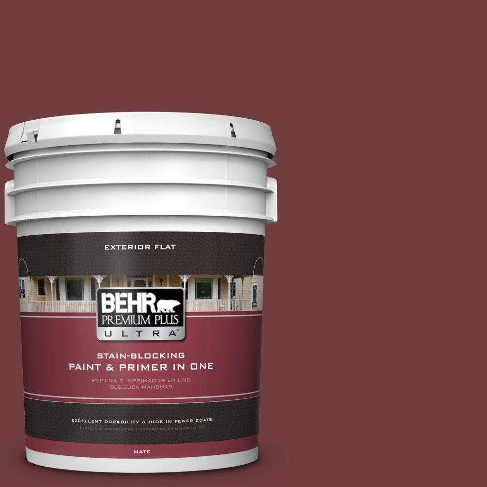 BEHR Premium Plus Ultra 5-gal. #S-H-150 Chianti Flat Exterior Paint