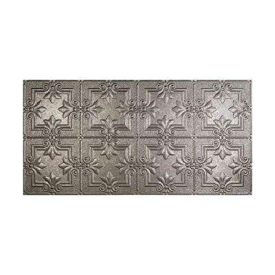 Regalia 2 ft. x 4 ft. Vinyl Glue-Up Ceiling Tile in Galvanized Steel
