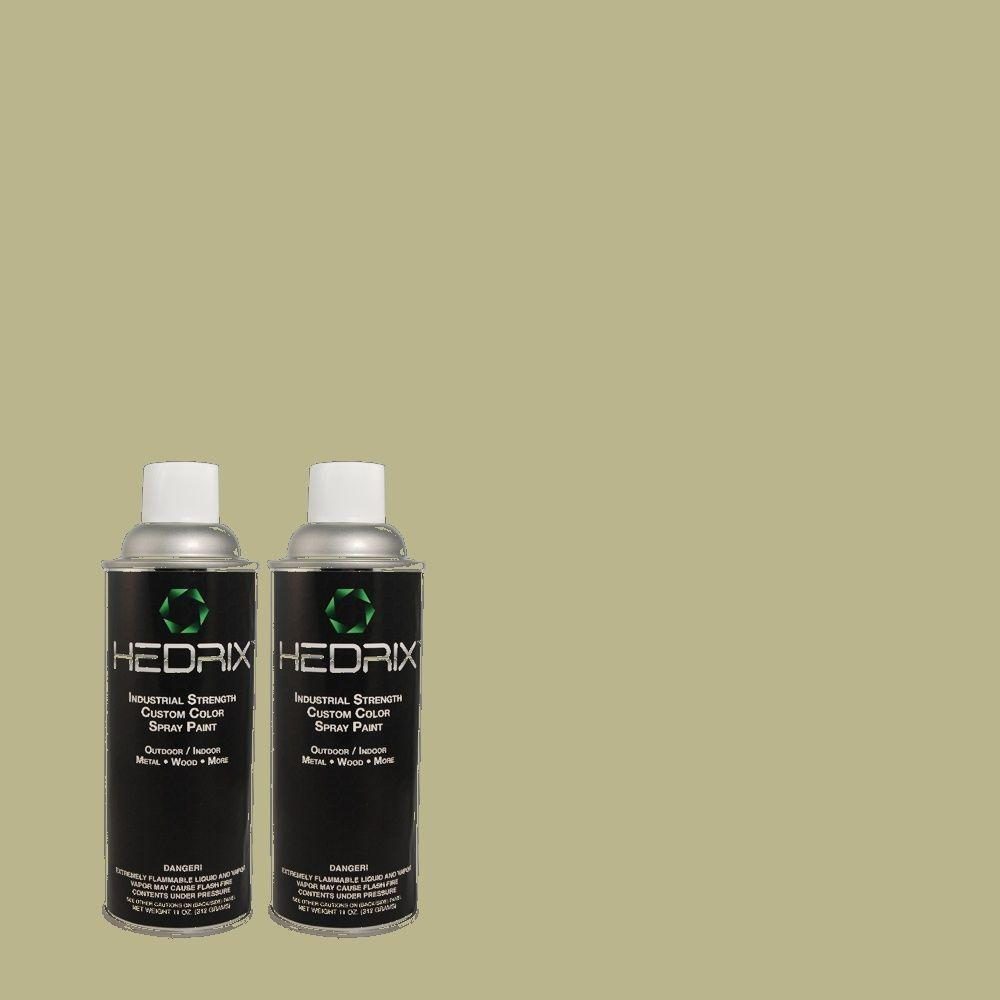 Hedrix 11 oz. Match of PPU10-6 Spring Walk Semi-Gloss Custom Spray Paint (2-Pack)