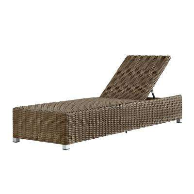 Camari Mocha Wicker Adjustable Outdoor Chaise Lounge Chair