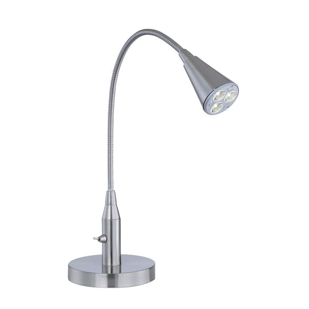 Illumine 1-Light LED Desk Lamp Polished Steel Finish