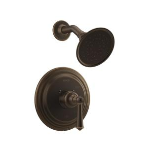 BARREA Single-Handle 1-Spray Round Shower Faucet in Olive Bronze (Valve Included)