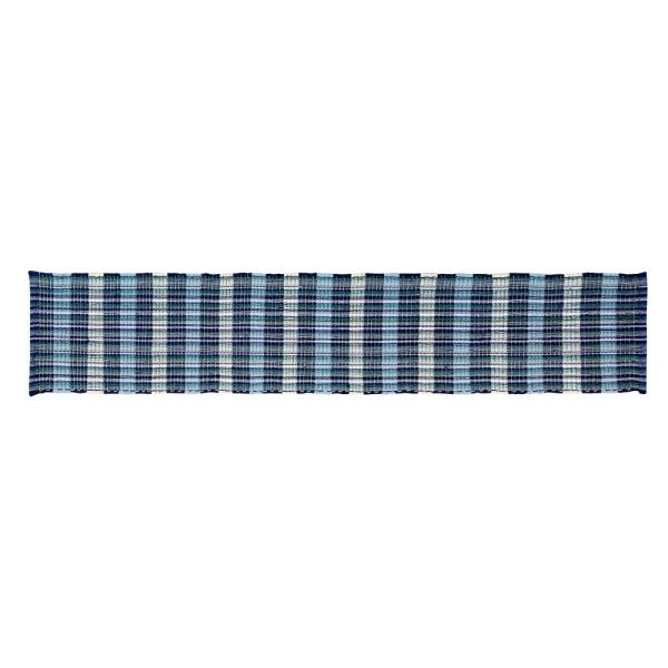 Better Trends Cottage Plaid Woven Blue Cotton Table Runner SS-RUCH1372BL