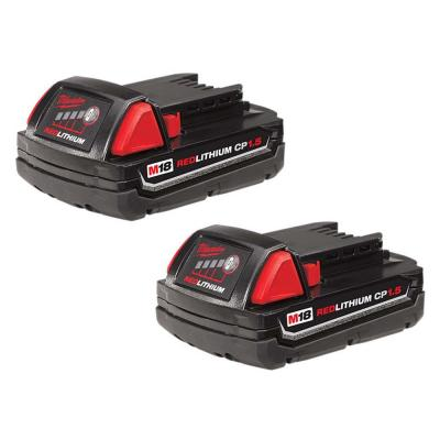 M18 18-Volt Lithium-Ion Compact Battery Pack 1.5Ah (2-Pack)