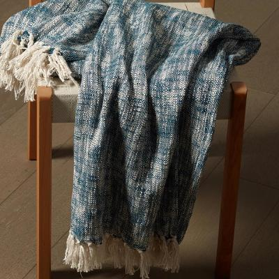 Blue Chambray Woven Throw