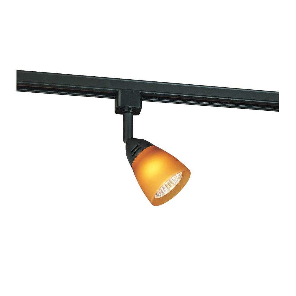 Lithonia lighting 8 ft black linear track lighting section lts8 dbl black linear track head aloadofball Choice Image
