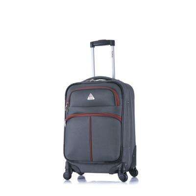 Roller-FI lightweight softside spinner 20 in. carry-on Grey and Orange