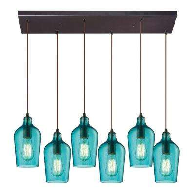 Blue cluster pendant lights lighting the home depot hamrade collection 6 light oil rubbed bronze mini pendant aloadofball Choice Image