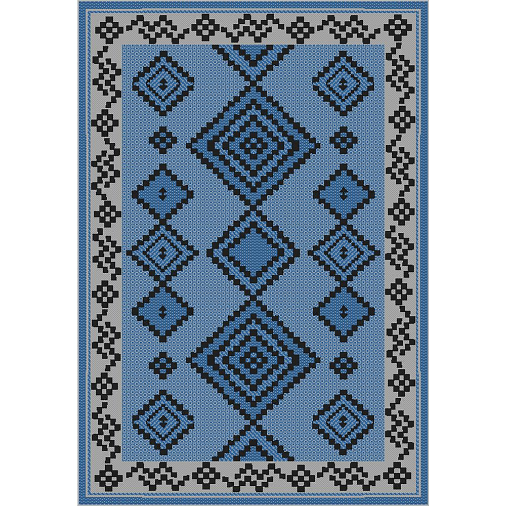 Genial MAXY HOME Sunshine Collection Blue/Grey 5 Ft. X 8 Ft. Outdoor Patio