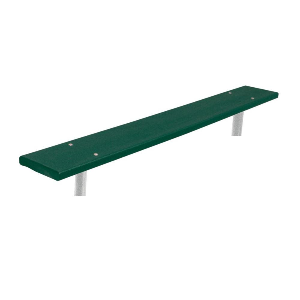 Ultra Play 6 ft. Green Commercial Park In-Ground Recycled Plastic Bench without Back Surface Mount