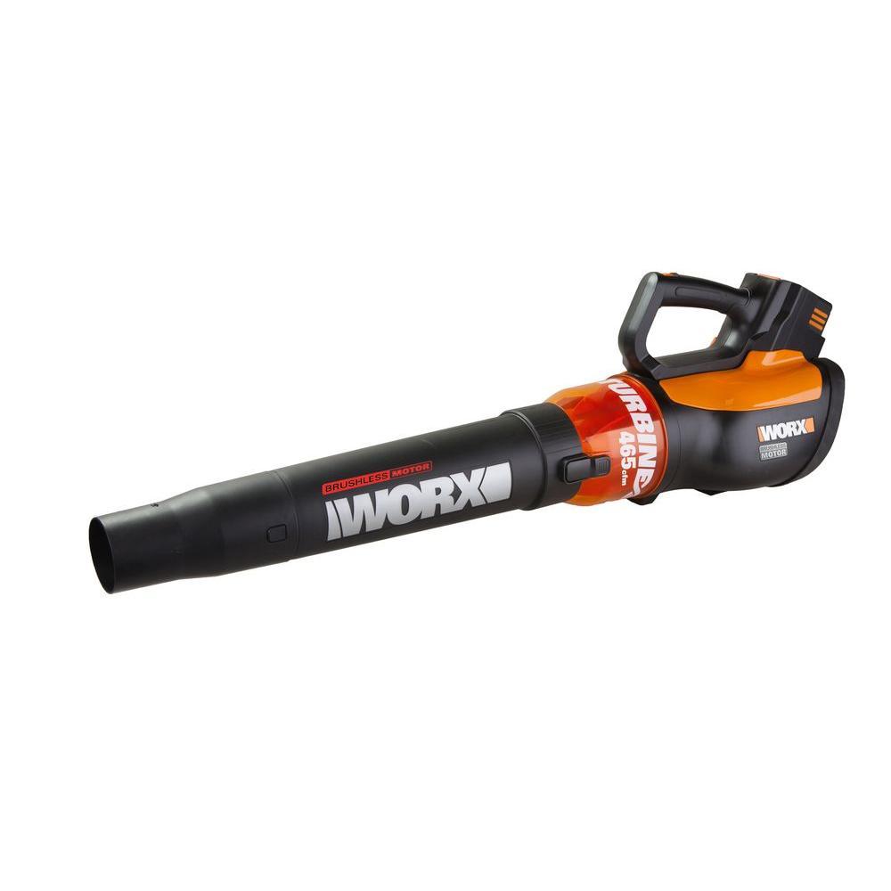 Worx 125 MPH 465 CFM 56-Volt Max Lithium-Ion Cordless Turbine Leaf Blower