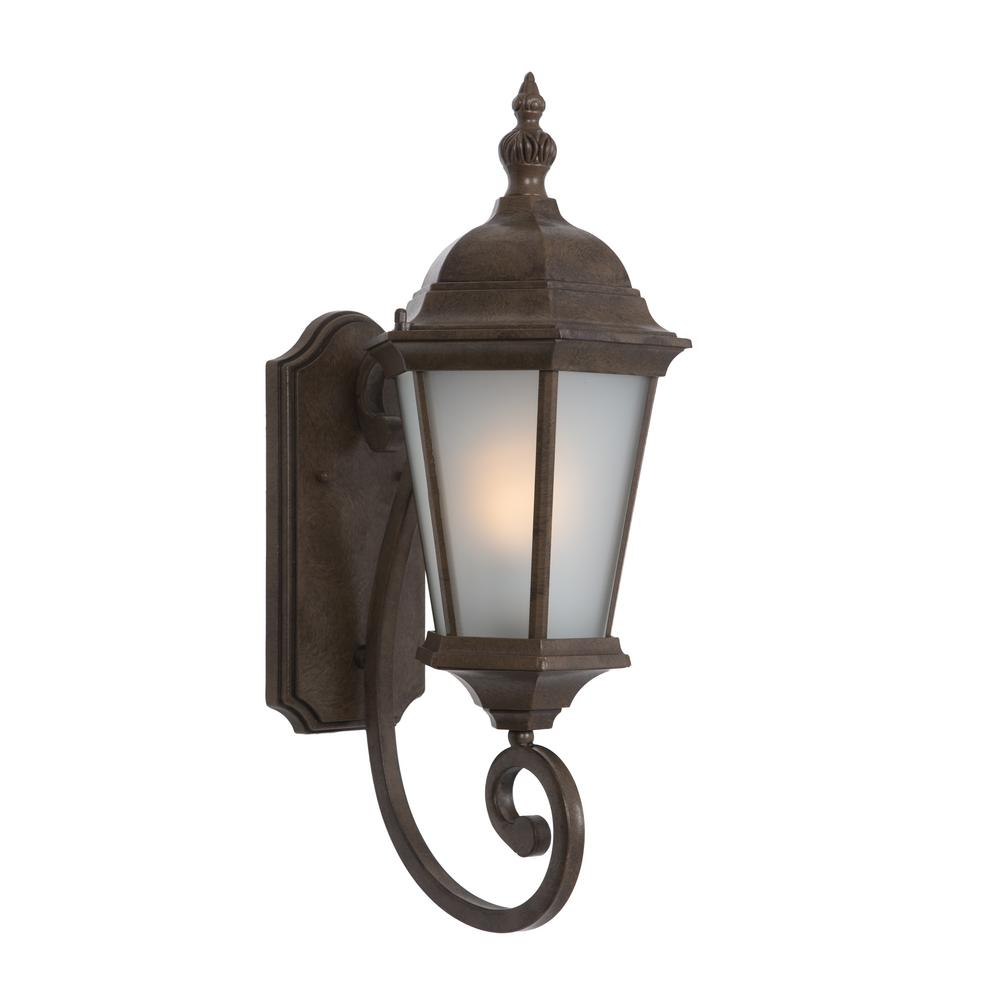 Brielle Collection 1 Light Brown Outdoor Wall Mount Lamp