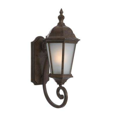 Brielle Collection 1-Light Brown Outdoor Wall-Mount Lamp