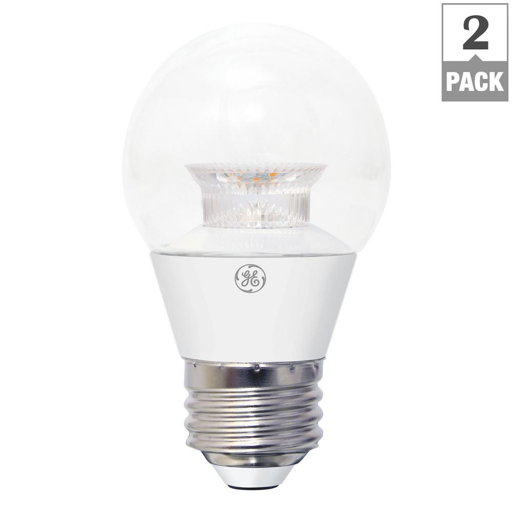 GE 40W Equivalent Soft White (2700K) High Definition A15 Dimmable LED Light Bulb (2-Pack)