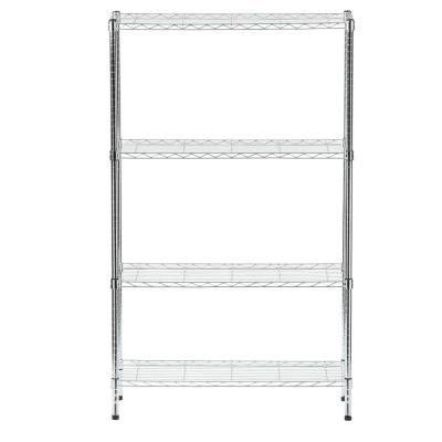 Chrome 4-Tier Metal Wire Shelving Unit (36 in. W x 60 in. H x 14 in. D)