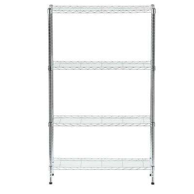 36 in. W x 60 in. H x 14 in. D 4-Shelf Chrome Wire Unit