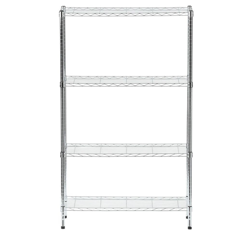 HDX 4 Shelf 60 in. H x 36 in. W x 14 in. D Wire Unit in Chrome-EH ...