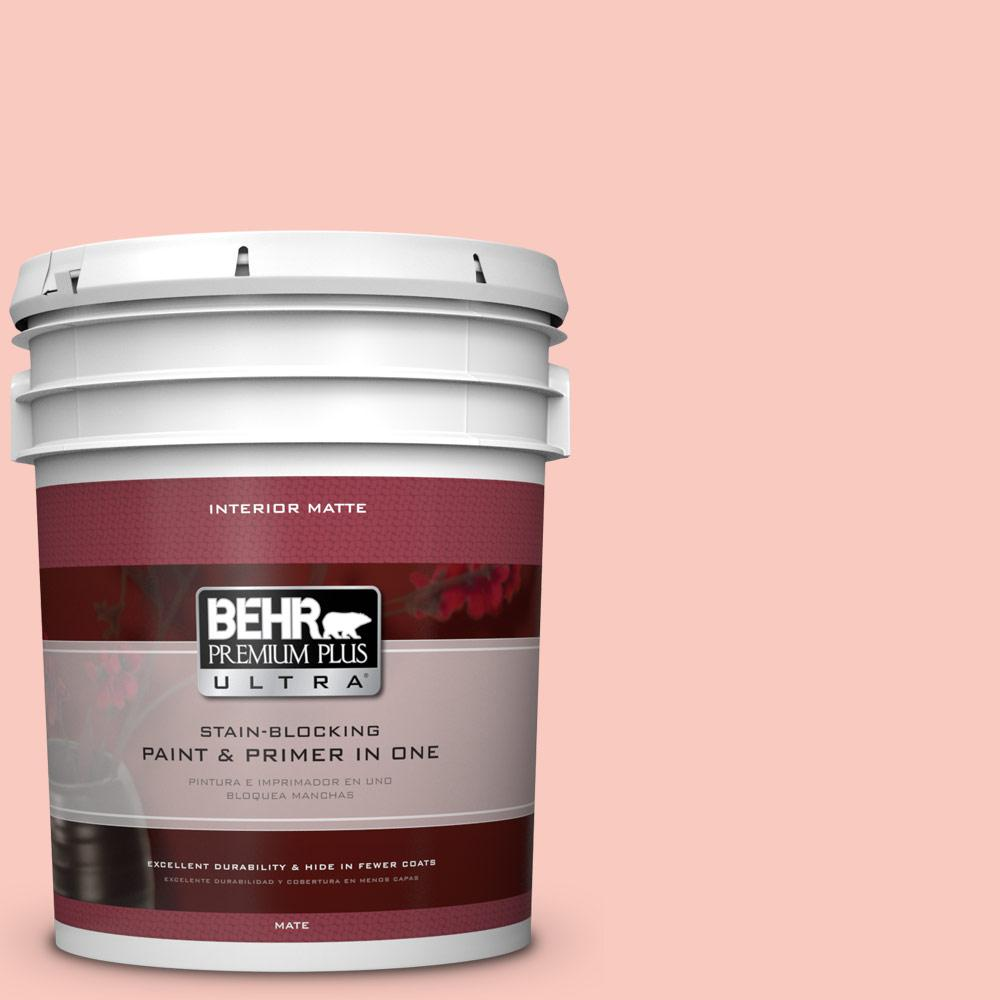 BEHR Premium Plus Ultra 5 gal. #200C-3 Spring Song Matte Interior Paint and Primer in One