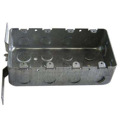 4-Gang Metal Electrical Box with 1/2 in. Knockouts and CV Bracket