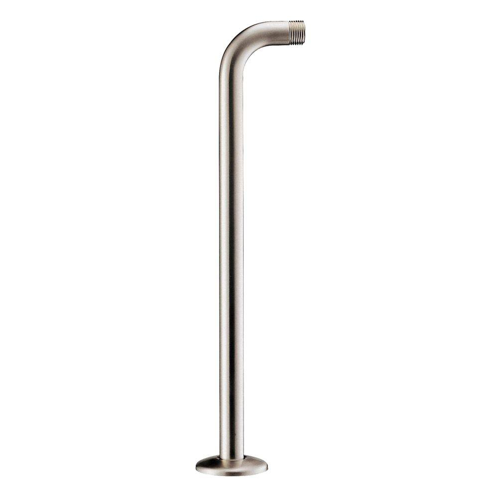 Danze 15 in. Right Angle Shower Arm with Flange in Brushed Nickel