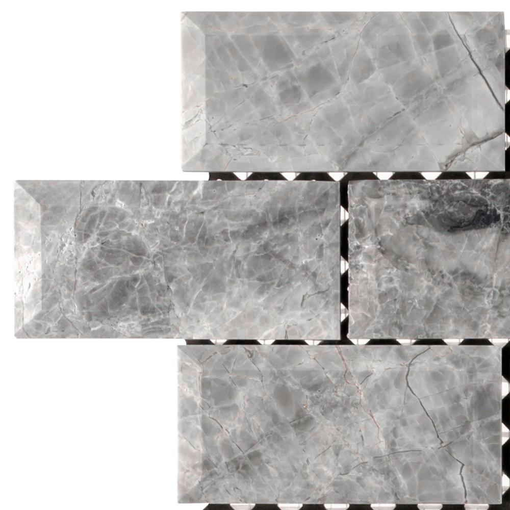 Jeffrey Court Tundra Grey 2 X 4 Beveled 3 In X 6 In X 10
