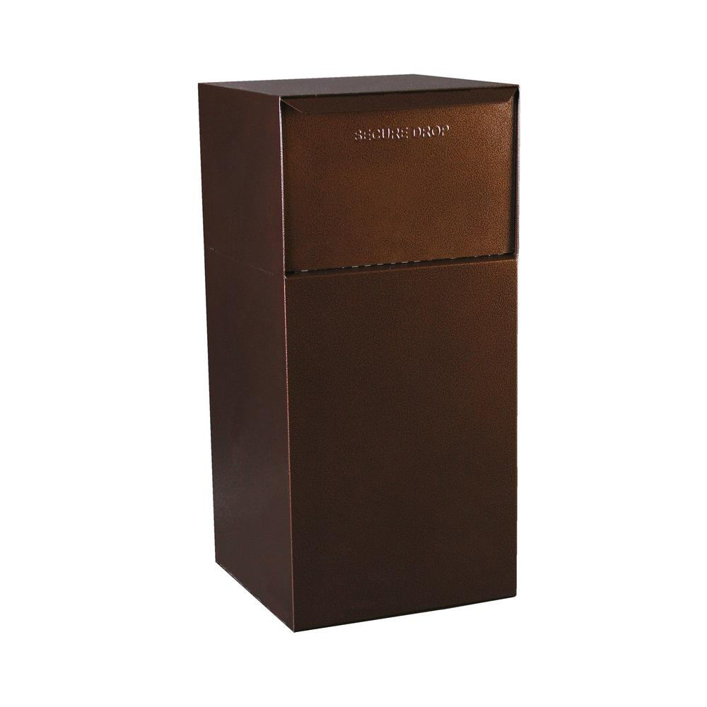 dVault Mailboxes Curbside Delivery Vault without Letterbox in Copper Vein